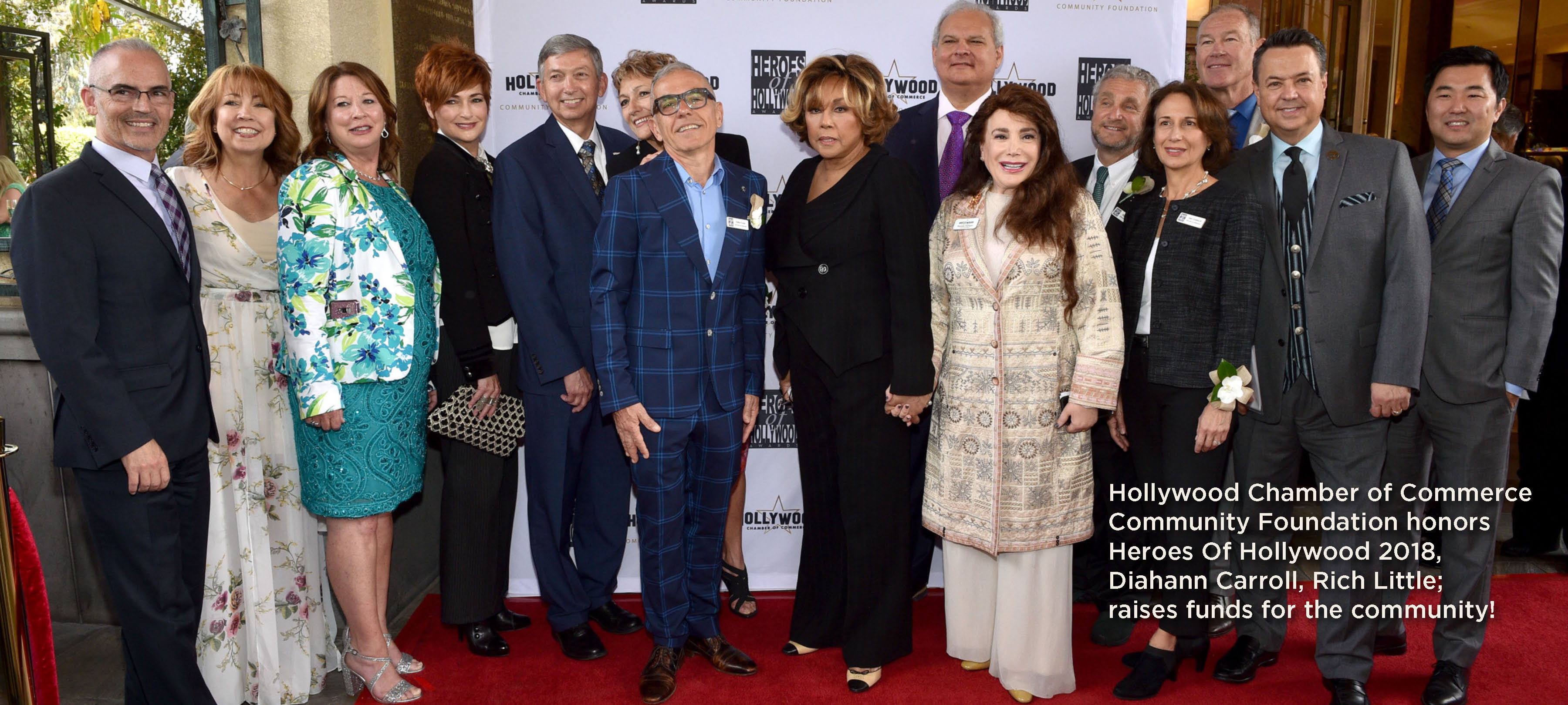 Hollywood Chamber of Commerce Community Foundation honors Heroes Of Hollywood 2018, Diahann Carroll, Rich Little; raises funds for the community!