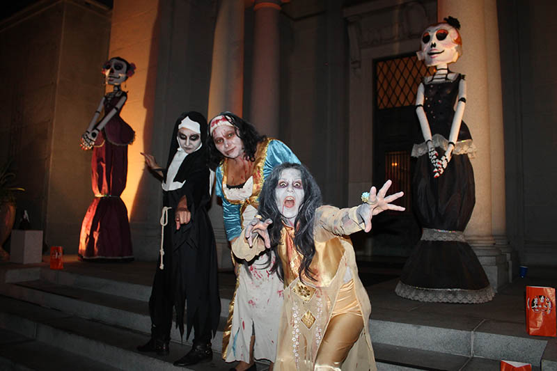 At the All Hallows' Eve Fundraiser where more than 250 mortal guests of the Hollywood Chamber experienced Halloween from within the gates of the Hollywood Forever, and helped raise money that the Foundation distributes back into the community in the form of grants to local organizations.